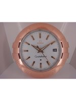 Replique Omega Constellation Horloge murale blanc Case Full Rose Gold