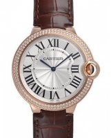 Cartier Ballon Bleu de Cartier 40mm Rose Or diamant Montre WE902055
