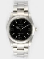 Replique Rolex Oyster Perpetual Air King Black Dial With