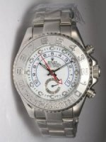 Replique Rolex YACHT-MASTER II blanc Dail Silver Bezel Wh
