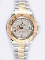 Replique Rolex YACHT-MASTER 18K/SS Gray Face Golden Bezel