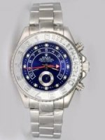 Replique Rolex YACHT-MASTER II Blue Dail Silver Bezel Whi