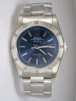 Replique Rolex Oyster Perpetual Air King Blue Dial With S