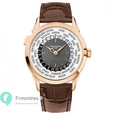 Replique Patek Philippe Complications World Time Or rose Hommes Montre 5230R-001