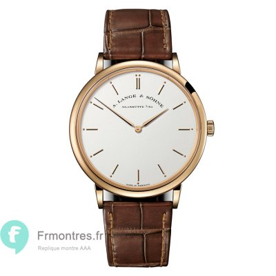 Replique A.Lange & Sohne Saxonia Thin Or rose 211.032