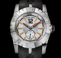 Replique Roger Dubuis Easy Diver Automatic (SS / Silver / Rubber
