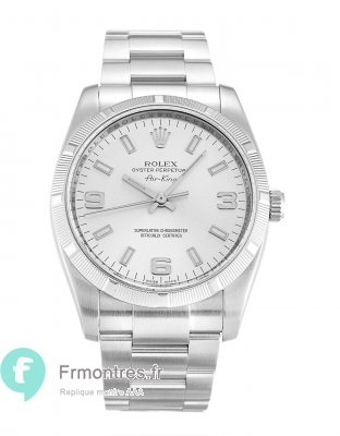 Replique Rolex Air-King Argent Trimestre Arabe Unisexe 114210