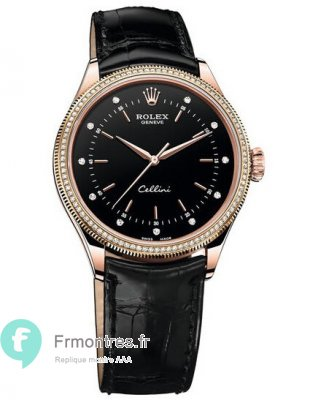 Replique Rolex Cellini Time Rose Gold & diamants 50605RBR