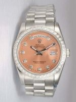 Réplique Rolex Day Date Anti Gold Dial With CZ Diamond H