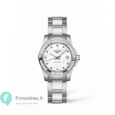 Replique Longines Hydroconquest Quartz 29.5 diamant MOP L3.247.0.87.6