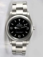 Réplique Rolex Explorer Black Dial With Bar Hour Markers