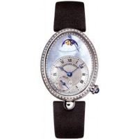 Replique Breguet Reine de Naples Power Reserve & Moonphase Or blanc 8908BB/v2/864.D00D