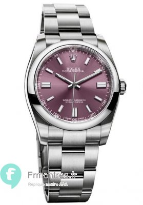 Replique Rolex Oyster Perpetual 36mm Raisin cadran 116000 rgio
