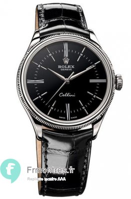 Replique Rolex Cellini Time en or blanc montre 50509 bkbk