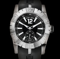 Replique Roger Dubuis Easy Diver Automatic (SS / Black / Rubber S