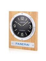 Replique Panerai Luminor Horloge murale Brown Wood Mounting with Blac