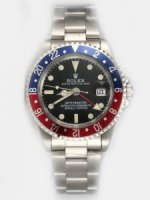 Réplique Rolex GMT-MASTER Black Dail 24 Hour Blue And Red