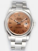 Replique Rolex Date Just Brown Dial With Bar Hour Marker