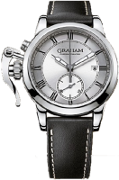 Réplique Graham fighter 1695 Argent graph Montre Homme 2CXAY.S05A