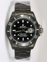Réplique Rolex SUBMARINER Black PVD Bezel Black Face hommes'