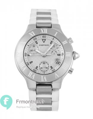 Replique Cartier Must 21 scaph Cadran Blanc W10197U2