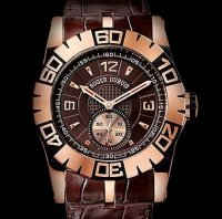 Replique Roger Dubuis Easy Diver Automatic (PG / Chocolate / Leat