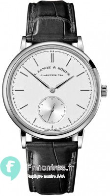 Replique A.Lange & Sohne Saxonia Vent manuel 37mm Or blanc Montre Homme 216.026