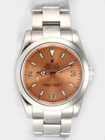 Réplique Rolex Explorer French Anti Gold Dial With Bar An