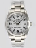 Réplique Rolex Oyster Perpetual Air King blanc Dial With