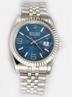 Réplique Rolex Date Blue Dial With blanc Bar And Arabic N