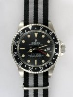 Réplique Rolex GMT-MASTER Black Dail 24 Hour Black Bezel