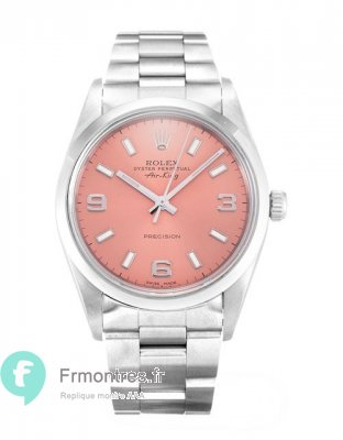Replique Rolex Air-King Rose Trimestre Arabe Oyster Acier Unisexe 14000