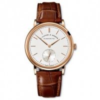Replique A Lange & Sohne Saxonia automatique or rose montre 380.032