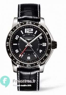Replique Longines Admiral GMT Noir XL L3.668.4.56.2
