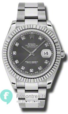 Replique Rolex Datejust II Automatique Diamant Rhodium Dial Montre Homme 116334RDO