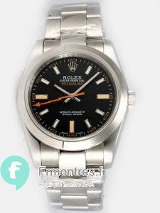 Replique Rolex Milgauss Black Dial Arabic And Bar Hour M