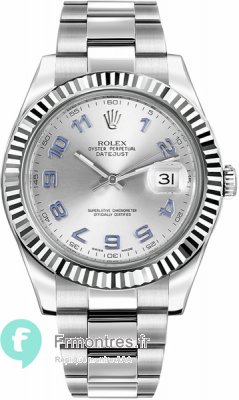 Replique Rolex Datejust II cadran rhodie automatique montre 116334RBLAO