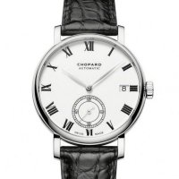 Chopard Classic Manufacture Blanc Cadran 18K Rose Or Automatique 161289-5001