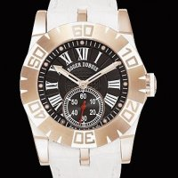Replique Roger Dubuis Easy Diver (RG / Black / Rubber Strap) RDDB