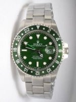 Réplique Rolex GMT-MASTER Green Dail 24 Hour Green Bezel