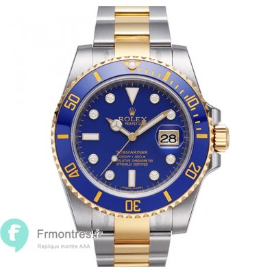 Replique Rolex Submariner cadran bleu 116613LB-97203