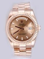 Réplique Rolex Day Date Anti Gold Dial With Bar Hour Mark