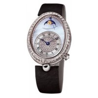 Replique Breguet Reine de Naples Power Reserve & Moonphase Or blanc 8909BB/vd/864.D00D