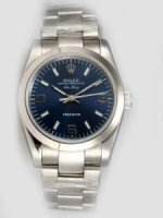 Réplique Rolex Oyster Perpetual Air King Blue Dial With W